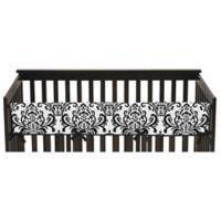Sweet Jojo Designs Isabella Long Crib Rail Guard Covers in Pink/Black/White