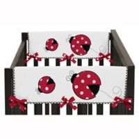 Sweet Jojo Designs Ladybug Short Crib Rail Guard Covers