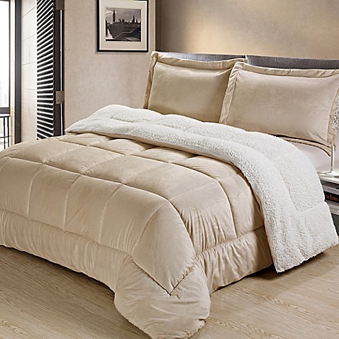 Sherpa down alternative comforter set bed bath beyond - Bed bath and beyond bedroom furniture ...