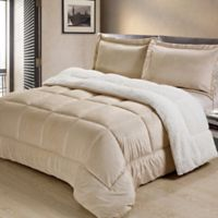 Sherpa Down Alternative 2-Piece Twin Comforter Set in Camel