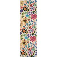 Safavieh Four Seasons 2-Foot 3-Inch x 6-Foot Floral Indoor/Outdoor Runner in Ivory Multi