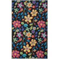Safavieh Four Seasons Floral3-Foot 6-Inch x 5-Foot 6-Inch Area Rug in Black Multi