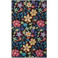 Safavieh Four Seasons Floral 5-Foot x 8-Foot Indoor/Outdoor Area Rug in Black Multi