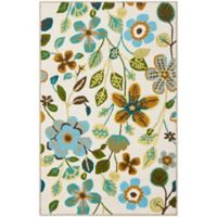 Safavieh Four Seasons Floral 2-Foot 6-Inch x 4-Foot Indoor/Outdoor Accent Rug in Ivory Multi