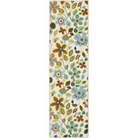 Safavieh Four Seasons Floral 2-Foot 3-Inch x 6-Foot Indoor/Outdoor Runner in Ivory Multi
