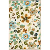 Safavieh Four Seasons Floral 3-Foot 6-Inch x 5-Foot 6-Inch Indoor/Outdoor Area Rug in Ivory Multi