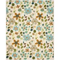 Safavieh Four Seasons Floral 8-Foot x 10-Foot Indoor/Outdoor Area Rug in Ivory Multi