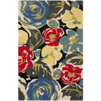 Safavieh Four Seasons Watercolor 2-Foot 6-Inch x 4-Foot Indoor/Outdoor Accent Rug in Black Multi