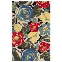 Safavieh Four Seasons Watercolor 5-Foot x 8-Foot Indoor/Outdoor Area Rug in Black Multi