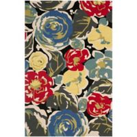 Safavieh Four Seasons Watercolor 3-Foot 6-Inch x 5-Foot 6-Inch Indoor/Outdoor Rug in Black/Multi