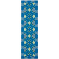 Safavieh Four Seasons Southwest 2-Foot 3-Inch x 8-Foot Indoor/Outdoor Runner in Indigo/Yellow