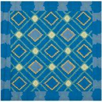Safavieh Four Seasons Southwest 6-Foot Square Indoor/Outdoor Area Rug in Indigo/Yellow