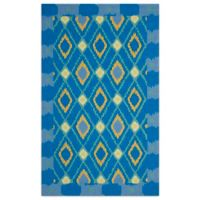 Safavieh Four Seasons Southwest 8-Foot x 10-Foot Indoor/Outdoor Area Rug in Indigo/Yellow