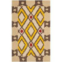 Safavieh Four Seasons Southwest 2-Foot 6-Inch x 4-Foot Indoor/Outdoor Accent Rug in Beige/Yellow