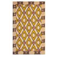 Safavieh Four Seasons Southwest 8-Foot x 10-Foot Indoor/Outdoor Area Rug in Beige/Yellow
