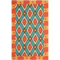 Safavieh Four Seasons Southwest 8-Foot x 10-Foot Indoor/Outdoor Area Rug in Light Blue/Red