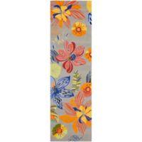 Safavieh Four Seasons Tropical 2-Foot 3-Inch x 6-Foot Indoor/Outdoor Runner in Grey/Orange