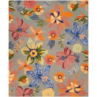 Safavieh Four Seasons Tropical 8-Foot x 10-Foot Indoor/Outdoor Area Rug in Grey/Orange