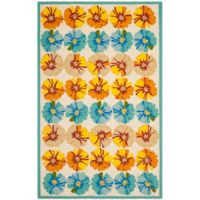 Safavieh Four Seasons Hibiscus 8-Foot x 10-Foot Indoor/Outdoor Area Rug in Ivory/Blue