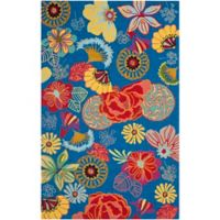 Safavieh Four Seasons Asian Floral 3-Foot 6-Inch x 5-Foot 6-Inch Indoor/Outdoor Area Rug in Blue/Red
