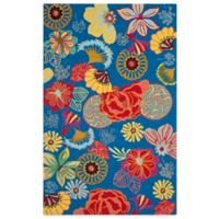 Safavieh Four Seasons Asian Floral 5-Foot x 8-Foot Indoor/Outdoor Area Rug in Blue/Red