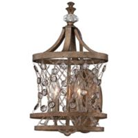 Metropolitan® Vel Catena 2-Light Wall Sconce in Arcadian Gold