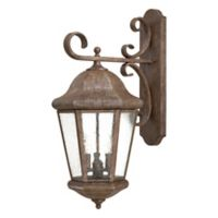The Great Outdoors by Minka-Lavery Taylor Court 3-Light 12.25-Inch Wall Mount w/Vintage Rust Finish