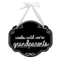 "Pearhead ""Weeks Until Grandparent"" Chalkboard Sign"
