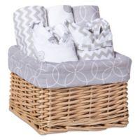 Trend Lab® 7-Piece Feeding Basket Gift Set in Safari Grey
