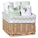 Trend Lab® 7-Piece Feeding Basket Gift Set in Sea Foam