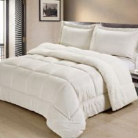 Sherpa Down Alternative 3-Piece Queen Comforter Set in Ivory
