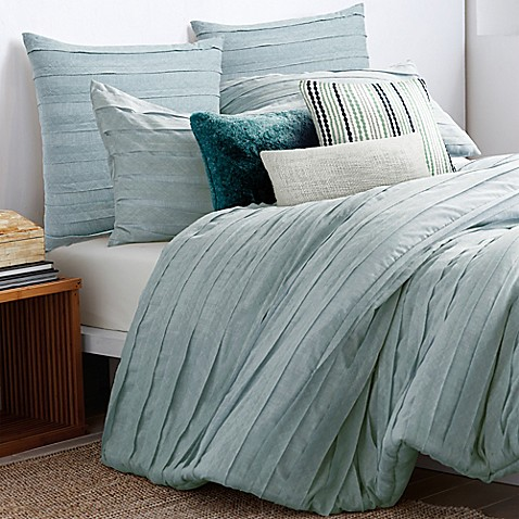 Buy Dkny Loft Stripe European Pillow Sham In Jade From Bed