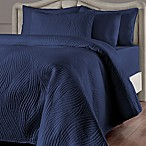 Brielle Stream Full/Queen Quilt Set in Navy