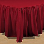 Brielle Stream King Bed Skirt in Red