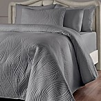 Brielle Stream Full/Queen Quilt Set in Grey
