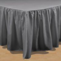 Brielle Stream King Bed Skirt in Grey