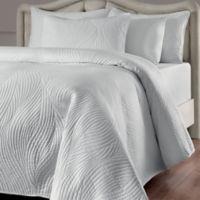 Brielle Stream Twin Quilt Set in White