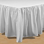 Brielle Stream Queen Bed Skirt in White
