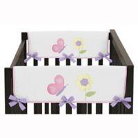 Sweet Jojo Designs Butterfly Side Rail Guard in Pink/Purple (Set of 2)