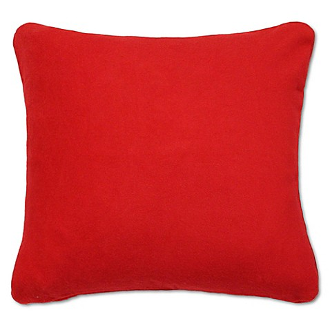 Buy PUR 24-Inch x 24-Inch Cashmere Square Throw Pillow in Cherry from Bed Bath & Beyond
