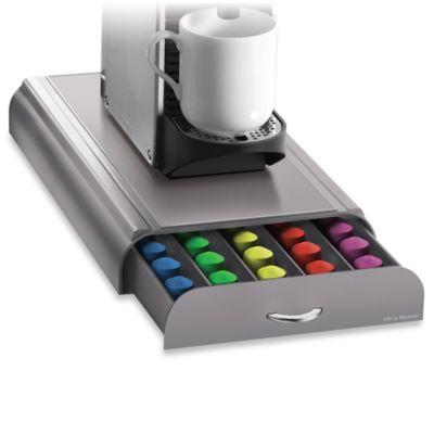 nespresso coffee capsule drawer in grey 50 pod capacity