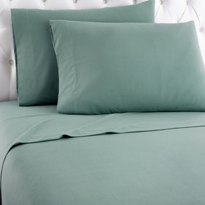 Marvelous Micro Flannel® Solid Full Sheet Set In Spruce