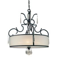 Metropolitan® Castellina 4-Light Pendant in Castellina Aged Iron