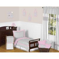 Sweet Jojo Designs 5-Piece Grey and Pink Zig Zag Toddler Bedding Set