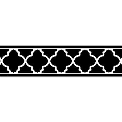 Sweet Jojo Designs Trellis Wallpaper Border In Black And White