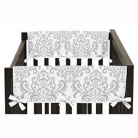 Sweet Jojo Designs Elizabeth Short Crib Rail Guard Covers in Pink/Grey (Set of 2)