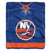 NHL New York Islanders Super-Plush Raschel Throw Blanket