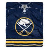 NHL Buffalo Sabres Super-Plush Raschel Throw Blanket
