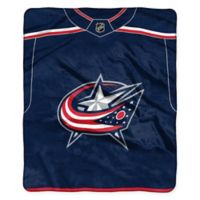 NHL Columbus Blue Jackets Super-Plush Raschel Throw Blanket