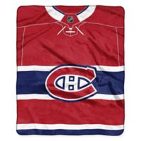 NHL Montreal Canadiens Super-Plush Raschel Throw Blanket